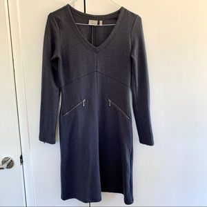 ATHLETA Celebration Ponte Long Sleeve Dress